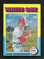 1975 Topps Mini #59 Ken Henderson White Sox AMAZING CARD MINT
