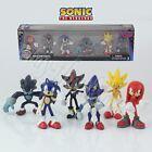 6Pcs Sonic The Hedgehog Classic Collector's Set 5.5-7cm PVC Figure No Box&In Box