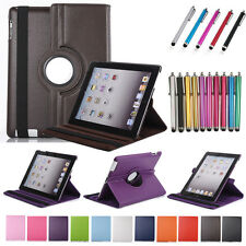 Stand Flip Cover Skin Plain Matte Leather Case For iPad 5 6 Air 2 3 4 Mini Smart