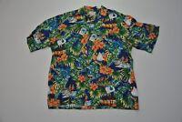 VTG Reyn Spooner Hawaiian Aloha Shirt Intel Technology Floral XL Rayon