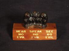vintage See No Evil 3 Wise Monkeys mid century Shamrock Texas Souvenir monkies