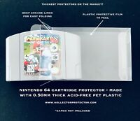 10 NINTENDO N64 VIDEO GAME CARTRIDGE PROTECTOR .50mm THICK CLEAR VIDEO GAME CASE