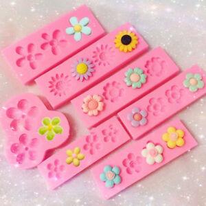 Mini Flower Silicone Mold Sugarcraft Fondant Chocolate Mould Cake Decor Tools