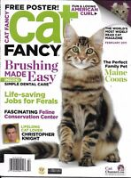 Cat Fancy Magazine Maine Coons Easy Brushing Feral Jobs American Curl Poster