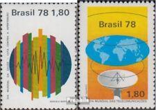 Brasilien 1649,1650 (kompl.Ausg.) postfrisch 1978 Bluthochdruck, Fernmeldetag