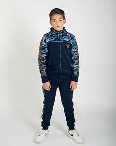 AC Boys Full Tracksuit Kids/Junior Camo Poly Tracksuit Bottom & Hoodie (YR 7-14)