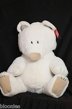 "Dakin BIG FROST T. BEAR Jumbo White Teddy Bear 18"" Plush Toy Doll 1984 NWT"