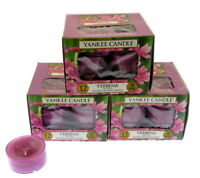 Yankee Candle Verbena Scented Candles Tea Lights x 3 boxes Packs of 12