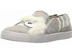 Women Kate Spade New York Lefferts Owel Slip On Fashion Shoes Gray/White