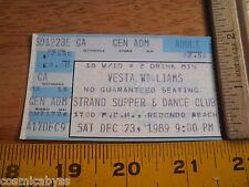 Vesta Williams VINTAGE 1980s concert ticket CA area