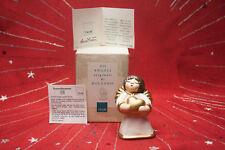 THUN Engel BOZNER Engel Herzch 7,5 cm hoch *TOP* natur+gold Weihnachten / Advent