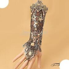 Bridal Bracelet Ring Set Lace Gothic Slave Gloves Hand Wedding Accessories