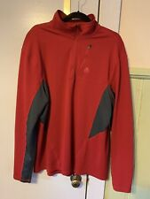 Acg Nike Dri Fit Pullover Long Sleeve Mens Red And Gray Size L Logo On Shoulder