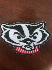 "Wisconsin Badgers Vintage Embroidered Iron on Patch  (Old Stock) 3""  X 2"""