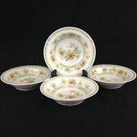 Set of 4 VTG Berry Bowls by Noritake China Amapola 2764 Yellow Floral Ireland