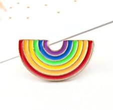 Cute Rainbow Designed Pin Brooch Chic Clothes Bag Collar Pins Brooches Jewelry