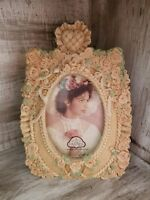 STUNNING Vintage Floral Picture Frame 3D Antique Victorian Style 4x6 Photo