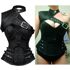 Women's Steampunk Gothic Lingerie Heavy Strong Steel Boned Corset with Zipper LO