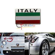 Euro Italy Green White Red Flag Badge For Italian Cars Alpha Abbas Maserati, etc
