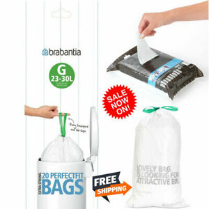 Brabantia 375668 Bin Liners, Size G, 23-30 L - 20,40,100,120,240 Bags Original