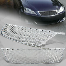 For 2006-2008 Lexus IS250 IS350 ABS Chrome Mesh Front Hood Bumper Grille Grill