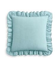 Lucky Brand Tile Seed Stitch 100% Cotton Euro Pillow Sham Aqua $70