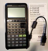 OPEN BOX Casio fx-9750GIII Graphing Calculator + USB, Python, Black - FREE SHIP!
