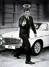 The Saint (Roger Moore) steel fridge magnet (2 w. car) (sd)