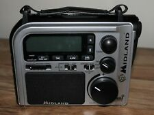 Midland ER102 Emergency Radio battery crank power weather alert AM/FM flashlight