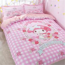 3PCS My Melody Cotton Bedding Sheet Quilt Cover Duvet Cover Sheet Pillow Case