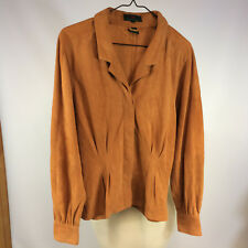 Vintage 1970s 80s Womens A&F Abercrombie & Fitch Leather Suede Jacket Shirt S