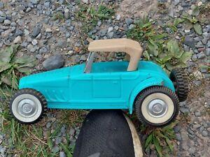 Vintage NYLINT TOYS Blue Ford Hot Rod Roadster - Pressed steel