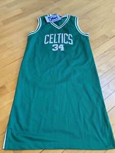 Womens Sz Medium Reebok Boston Celtics Paul Pierce #34 Dress Jersey NBA NWT