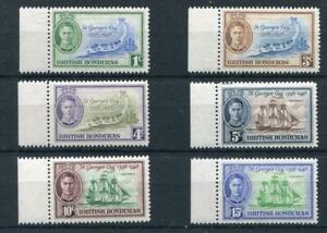 British Honduras 1949 Anniv St Georges Cay SG166/71 fine MNH