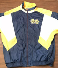 Vintage 90s Starter Michigan Wolverines Full Zip Windbreaker Jacket Football XL