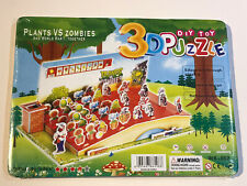 PLANTS VS ZOMBIES DIY TOY 3D PUZZLE NEW SEALED CHRISTMAS GIFT #2