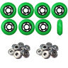 Inline Skate Wheels 76mm 89A Outdoor Green Rollerblade 8Pk with Abec 9 Bearings