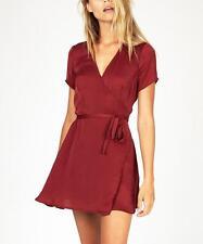 Don't Ask Amanda Dress Red Wrap Dress Size XS