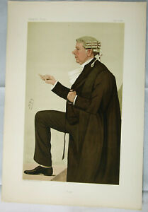 "Original VANITY FAIR Legal PRINT: ""York"" - Sir Frank Lockwood, QC; by ""SPY"" 1887"