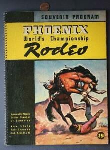 RARE 1939 Phoenix Arizona World Champ Rodeo program- Bulldogging- Calf Roping!