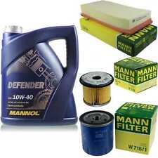 Motor-Öl 5L MANNOL Defender 10W-40 +MANN-FILTER Peugeot 806 221 1.9 TD