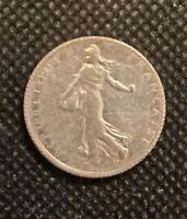 1919 FRANCE 1 FRANC .1342 OZ.  KM8443 COIN!  e2166XTC