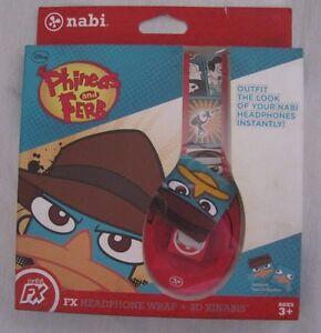 NIB Disney Phineas and Ferb Nabi FX Headphone Wrap + 3D Kinabis Exclusive