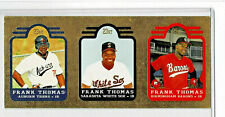 New listing LOT OF 2 1991 BLEACHERS FRANK THOMAS 23K GOLD 3 CARD PANEL #000380 & 000381 READ