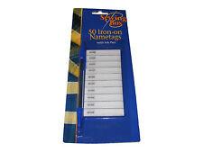 50 Paquet De Iron on Name Tag étiquettes Avec Stylo Pour Enfants Vêtements
