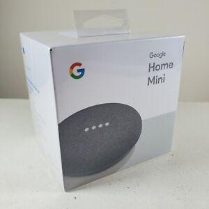 Google Home Mini Smart Assistant - Charcoal (GA00216-US) New Sealed