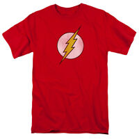 FLASH LOGO DISTRESSED Licensed Adult T-Shirt All Sizes