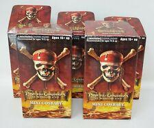"Hot Toys Disney Pirates Caribbean World's End Mini 3"" Cosbaby Lot (5) Figure Set"