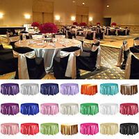 305cm Round Satin Tablecloth Wedding Table Cover Cloth Overlay Party Decoration
