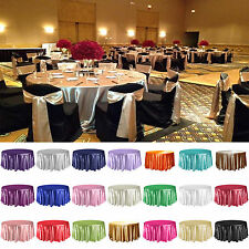 """120"""" Round Satin Tablecloth Table Cover For Wedding Party Restaurant Banquet"""